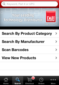 D&H iPhone App - Search